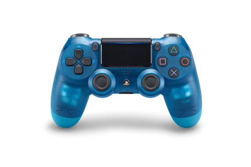PS4用 ワイヤレスコントローラー(DUALSHOCK4) ブルー・クリスタル[SIE]【送料無料】《在庫切れ》