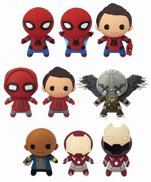 マーベル/ レーザーカット フィギュラル・キーリング スパイダーマン ホームカミング: 24個入りBOX[Monogram]【送料無料】《在庫切れ》