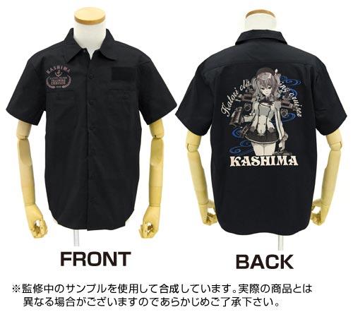 GEE!限定 艦隊これくしょん -艦これ- 鹿島刺繍ワークシャツ/BLACK-L[コスパ]【送料無料】《10月予約》