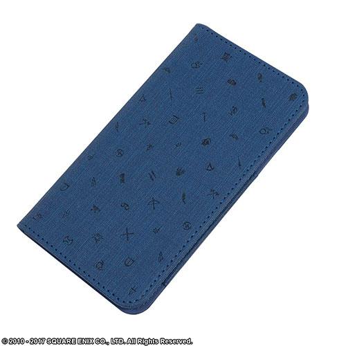 ファイナルファンタジーXIV 手帳型スマートフォンケース Lサイズ ブルー[スクウェア・エニックス]《発売済・在庫品》