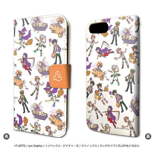 手帳型スマホケース(iPhone6/6s/7兼用)「KING OF PRISM -PRIDE the HERO-」05/ちりばめデザイン(グラフアート ハロウィンver.)[A3]《10月予約》