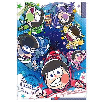 ぴた!でふぉめ おそ松さん パラシュート 3ポケットクリアファイル[タカラトミーアーツ]《発売済・在庫品》