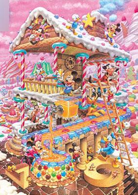ジグソーパズル ディズニー おかしなおかしの家〈ピュアホワイト〉 266ピース(DPG-266-574)[テンヨー]《11月予約※暫定》