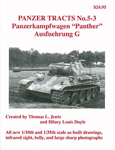 Panzerkampfwagen Panther Ausf.G(書籍)(再販)[PANZER TRACTS]《在庫切れ》