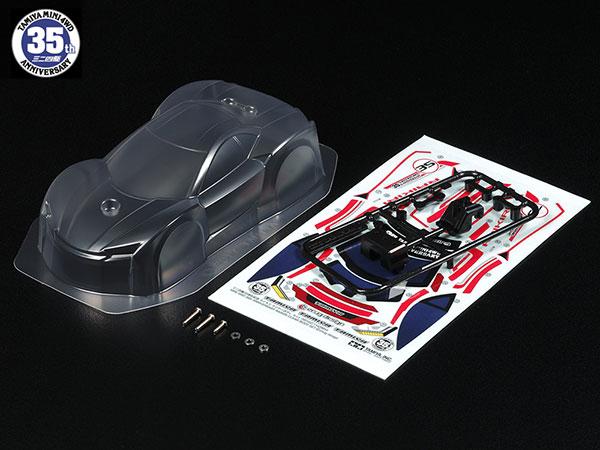 ミニ四駆限定 ミニ四駆35周年記念 ライキリ クリヤーボディセット[タミヤ]《発売済・在庫品》