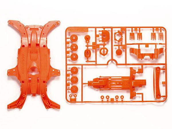 ミニ四駆特別企画 MA蛍光カラーシャーシセット (オレンジ)[タミヤ]《在庫切れ》