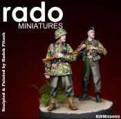 "1/35 WWII独 武装親衛隊第12装甲師団""HJ""""ノルマンディ""(2体セット)[Rado Miniatures]《在庫切れ》"