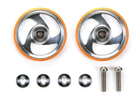 ミニ四駆特別企画 19mmプラリング付アルミベアリングローラー(オレンジ)[タミヤ]《発売済・在庫品》