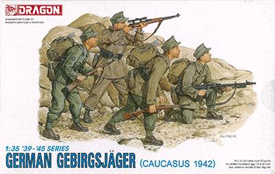 1/35 WW.II ドイツ山岳猟兵 コーカサス1942 プラモデル(再販)[ドラゴンモデル]《取り寄せ※暫定》