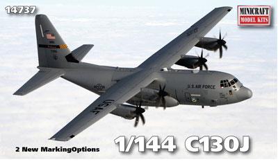 1/144 アメリカ空軍 C-130J スーパーハーキュリーズ プラモデル[ミニクラフト]《在庫切れ》