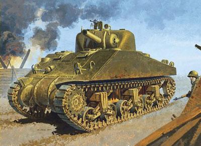 1/35 WW.II アメリカ軍 M4シャーマン DV(スマートキット) プラモデル(再販)[ドラゴンモデル]《10月予約※暫定》