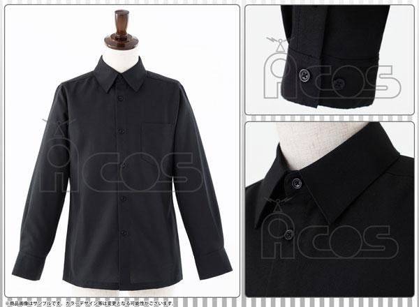 ノンキャラオリジナル 衣装 Yシャツ(黒)ver.3 Lサイズ(再販)[ACOS]《在庫切れ》