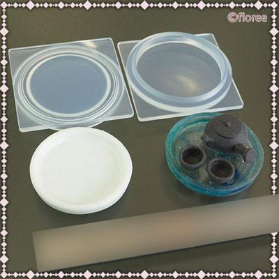 Soft mold シリコーン製 ミニチュアシリーズ C-664 おぼん(大)[亀島商店]《在庫切れ》