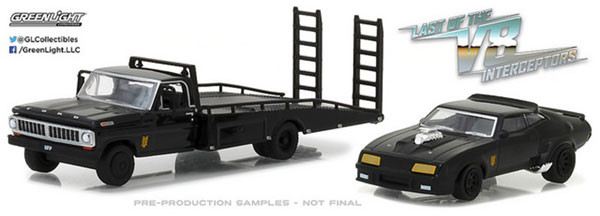 1/64 1972 Ford F-350 Ramp Truck w Last of the V8 Interceptors (1979) 1973 Ford Falcon XB[グリーンライト]《06月予約》