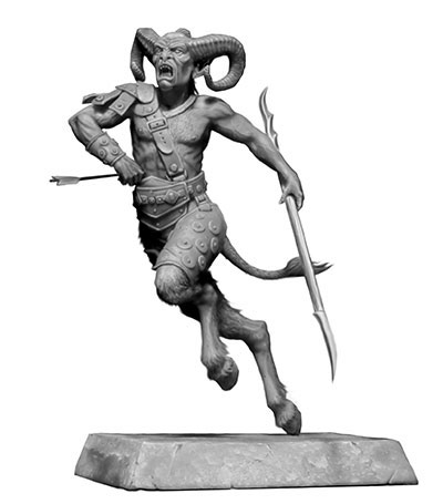 1/24 長刀を持つサテュロス(半人半獣族)・ギリシャ神話シリーズ プラモデル[マスターボックス]《12月予約※暫定》