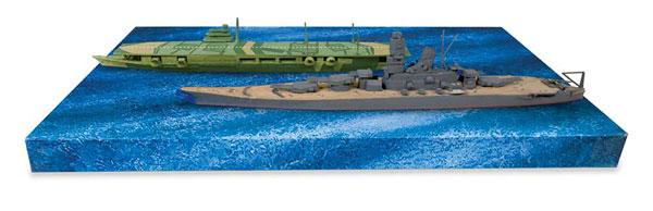 1/1200 WW.II 日本海軍 戦艦大和 & 航空母艦瑞鶴 (2艦セット)プラモデル[リンドバーグ]《在庫切れ》