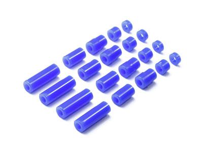 ミニ四駆特別企画 軽量プラスペーサーセット (12/6.7/6/3/1.5mm) ブルー[タミヤ]《発売済・在庫品》