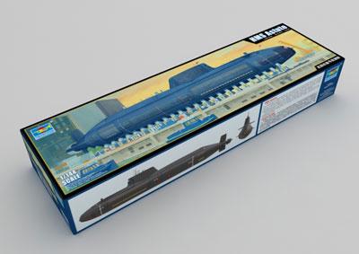 1/144 イギリス海軍 原子力潜水艦 HMS アスチュート プラモデル[トランペッターモデル]《01月予約》