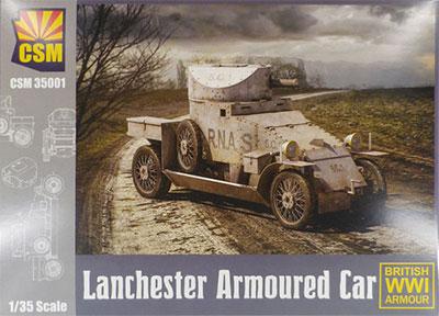 1/35 ランチェスター 4 x 2 装甲車 プラモデル[コッパーステートモデル]《在庫切れ》