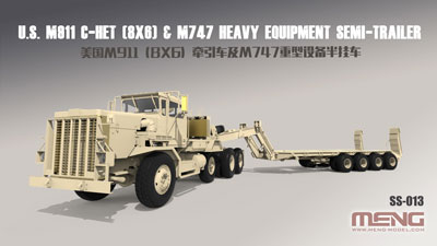 1/35 M911(8X6)戦車運搬トラック&M747トレーラーセット プラモデル[MENG Model]【送料無料】《発売済・在庫品》