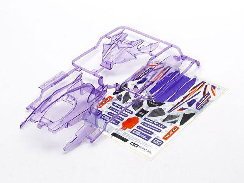 DCR-01 (デクロス-01) ボディパーツセット (クリヤーパープル) (ミニ四駆特別企画)[タミヤ]《発売済・在庫品》