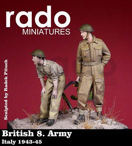 1/35 WWII英 第8軍兵士 イタリア 1943-45 2体セット[Rado Miniatures]《在庫切れ》