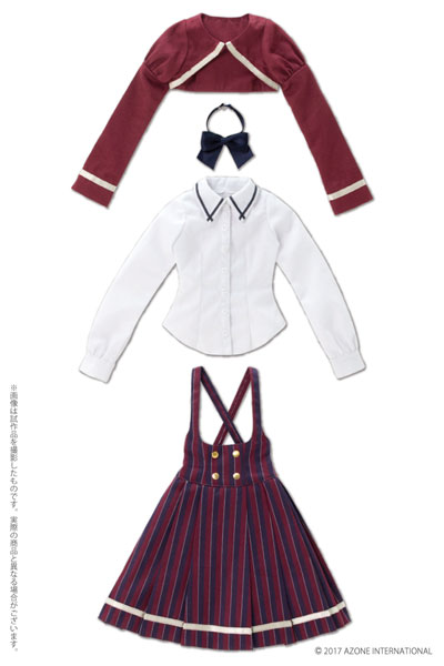 48/50cm用 AZO2 ボレロ制服セット エンジ(ドール用衣装)[アゾン]《02月予約》