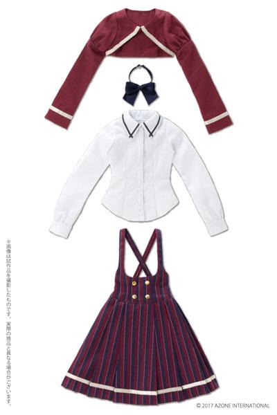 48/50cm用 AZO2 ボレロ制服セット エンジ(ドール用衣装)[アゾン]《発売済・在庫品》