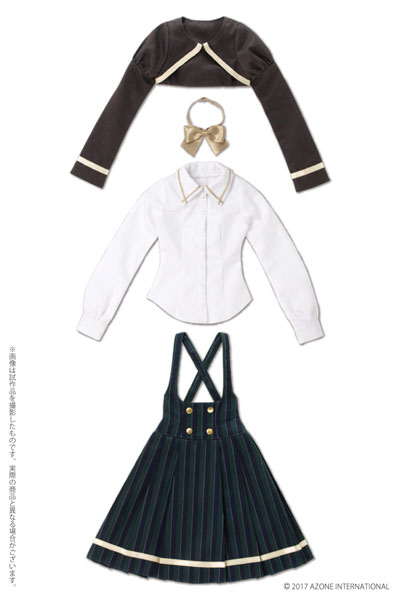 48/50cm用 AZO2 ボレロ制服セット グリーン(ドール用衣装)[アゾン]《02月予約》