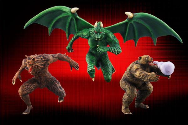 ビデオゲームヒーローズ 1/20SCALE 獣王記 3体セット レジンキャスト製組立キット[RCベルグ]【送料無料】《取り寄せ※暫定》