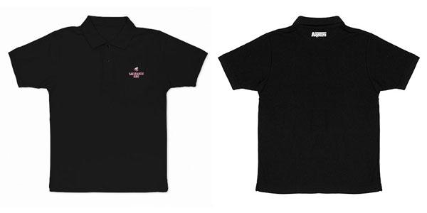 ラブライブ!サンシャイン!! 桜内梨子 刺繍ポロシャツ/BLACK-M[コスパ]《05月予約》