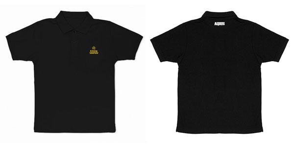 ラブライブ!サンシャイン!! 国木田花丸 刺繍ポロシャツ/BLACK-M[コスパ]《05月予約》