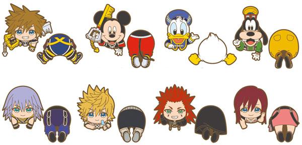 Kingdom Hearts - Nokkari Rubber Clip 8Pack BOX(Pre-order)キングダムハーツ のっかりラバークリップ 8個入りBOXAccessory