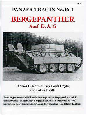 ベルゲパンター D,A,G型(書籍)(再販)[PANZER TRACTS]《在庫切れ》