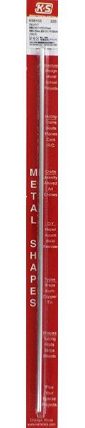 アルミパイプ 外径5/32インチ(3.97mm) 内径3.25mm 長さ12インチ(30cm)(1本入り)[K&S]《在庫切れ》