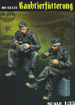 1/35 WWII独 食事中のドイツ戦車兵(2体セット)[BRAVO 6]《在庫切れ》