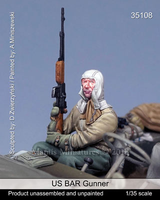 1/35 WWII米 BAR射手(乗車中)[Mantis Miniatures]《在庫切れ》