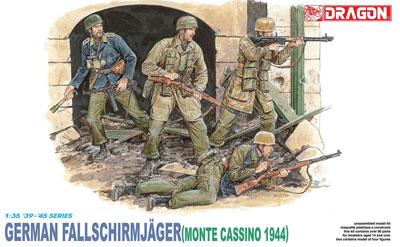 1/35 WW.II ドイツ軍 降下猟兵 モンテカッシーノ 1944 プラモデル(再販)[ドラゴンモデル]《在庫切れ》