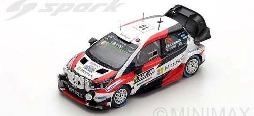 1/43 トヨタ ヤリス WRC No.10 Winner Rally Sweden 2017 J.-M.Latvala-M.Anttila[スパーク]《03月仮予約》