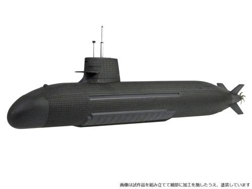 1/144 海上自衛隊 そうりゅう型潜水艦 プラモデル[モノクローム]《発売済・在庫品》