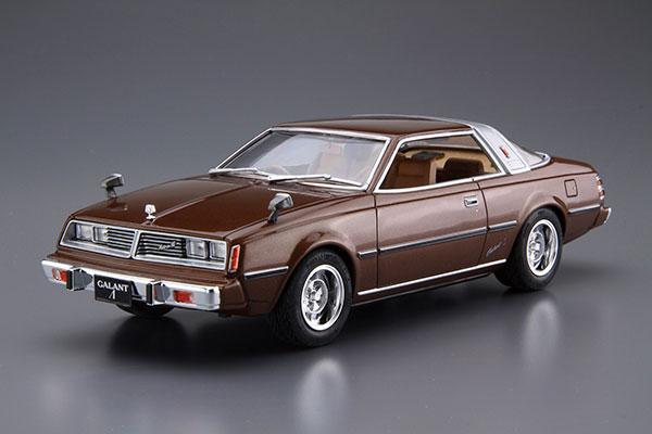 ザ・モデルカー No.78 1/24 ミツビシ A133A ギャランΛ '78 プラモデル[アオシマ]《05月予約》