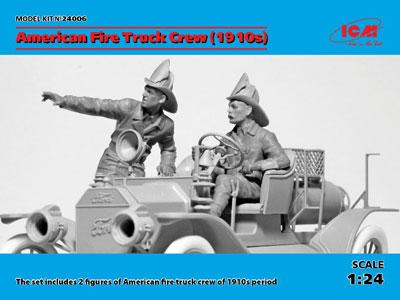 1/24 アメリカ消防車クルー (1910s) プラモデル
