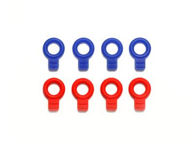 ミニ四駆特別企画 ラバーボディキャッチ(ブルー・レッド)[タミヤ]《発売済・在庫品》