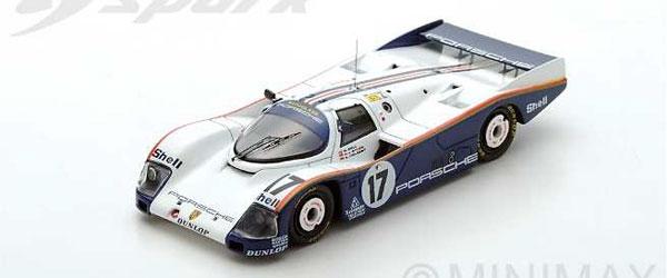 1/43 ポルシェ 962 C No.17 Winner Le Mans 1987 D. Bell - H.-J. Stuck - A. Holbert[スパーク]《在庫切れ》