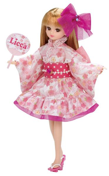 リカちゃんドレス おまつりピンク?(ドール用)