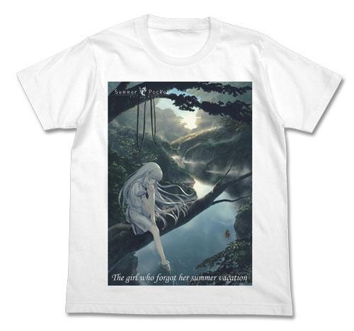GEE!限定 Summer Pockets 鳴瀬しろは フルカラーTシャツ/WHITE-L