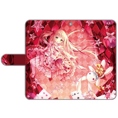 てぃんくる先生 描き下ろし手帳型スマホケース Alice in Starry Sky World 汎用Lサイズ[カーテン魂]《07月予約》