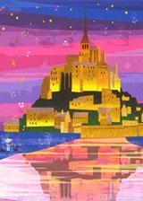 ジグソーパズル はりたつお モン・サンミシェル 500ピース (06-102)[エポック]《08月予約》