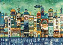ジグソーパズル 西村典子 星降る夜の街 500ピース (06-103)[エポック]《08月予約》