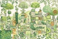 ジグソーパズル 西村典子 緑の文明 300ピース (26-298)[エポック]《08月予約》